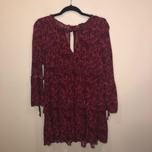 American Eagle Tiered Floral Long Sleeve Dress